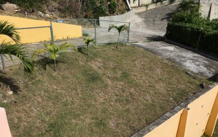 fenced yard and 2nd parking