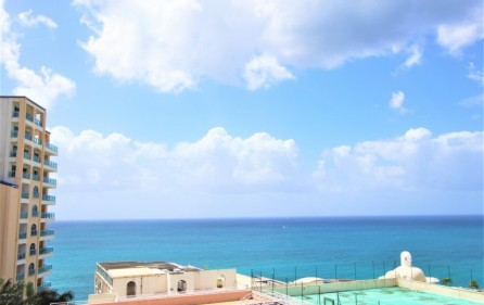 rainbow ocean view rental apartment in cupecoy​ 2