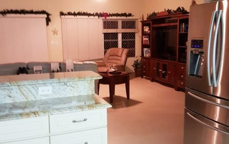 Living room from kitchen