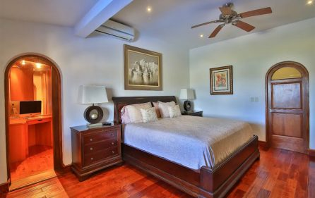 Master bedroom with walk in
