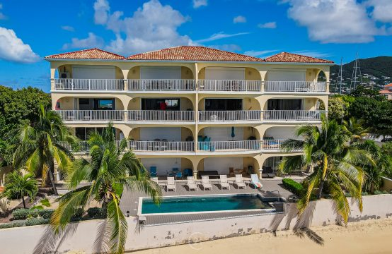 Modern Simpson Bay Two Bedroom Beachfront Condo For Sale