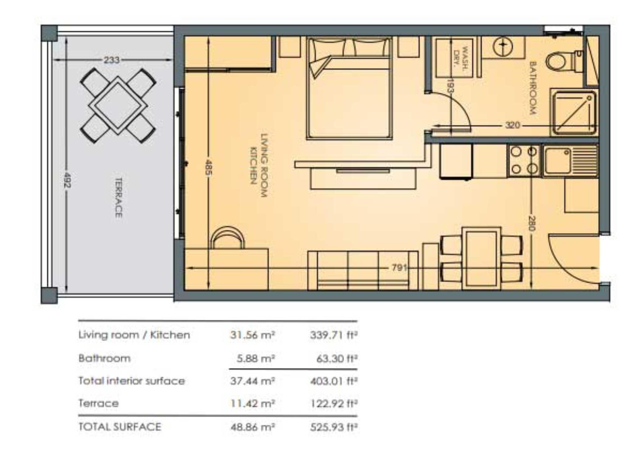 Jordan Village Studio Floor Plan