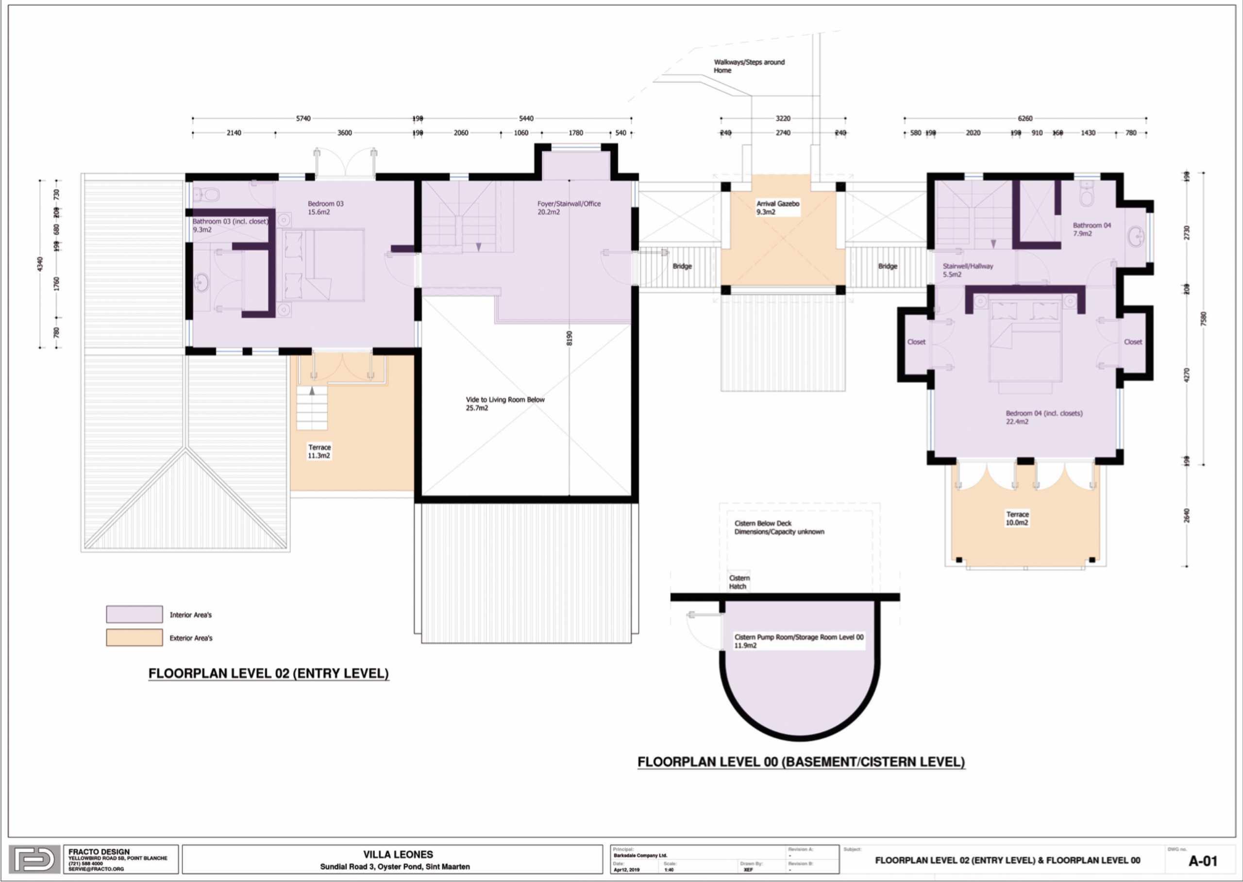 Oyster Pond Villa Floor Plan