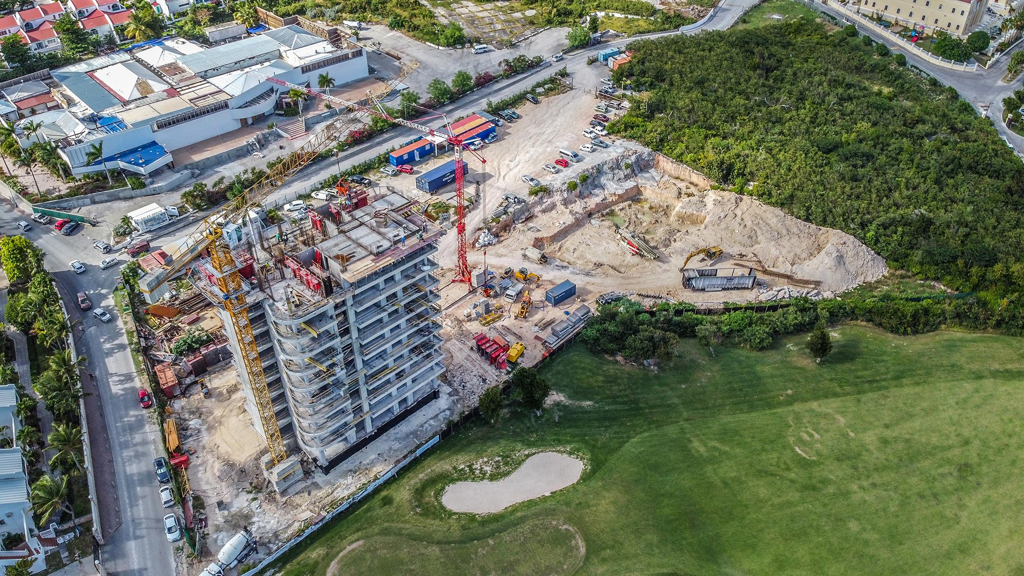 February 2020 Construction Update The Fourteen Mullet Bay Towers