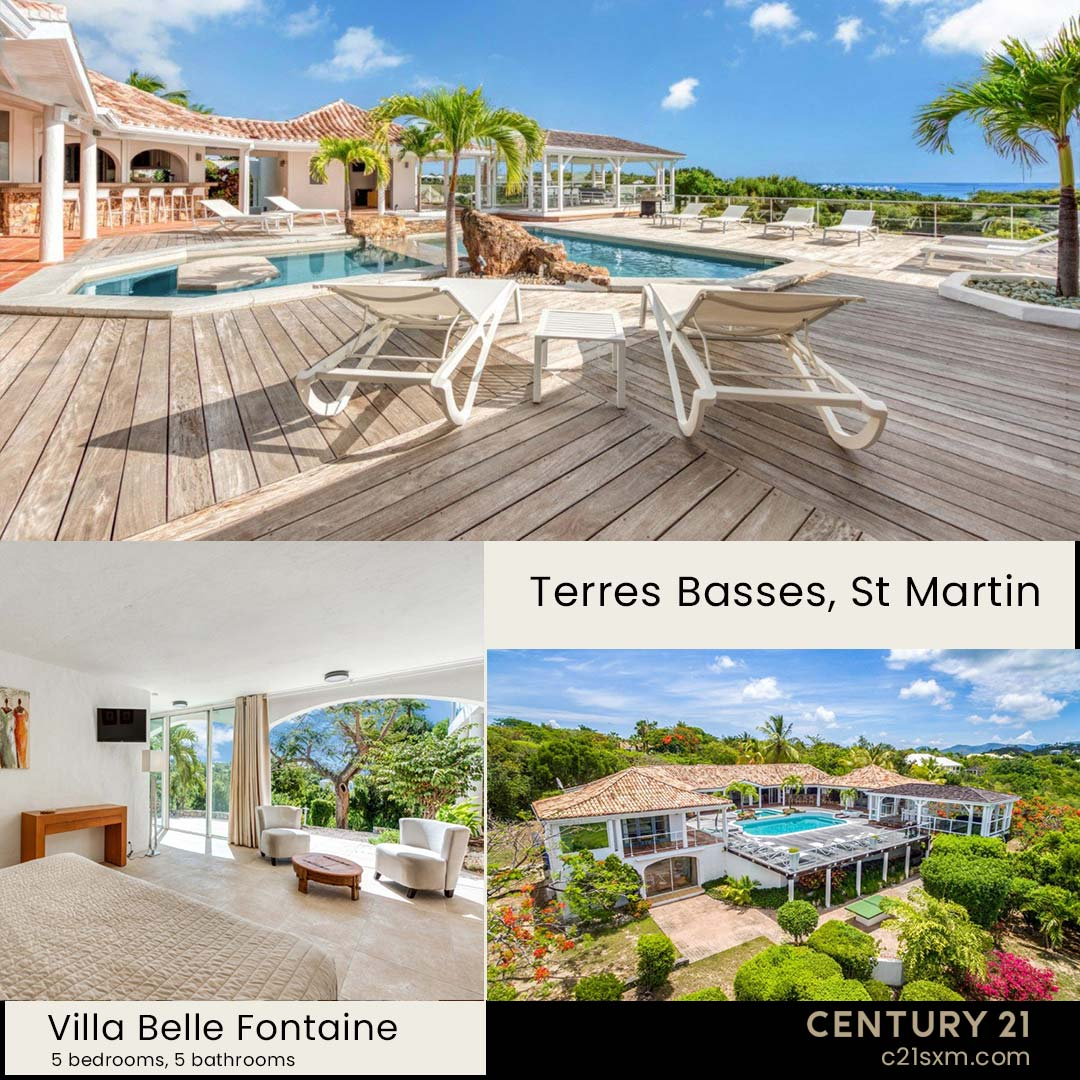 Belle Fontaine Terres Basses Villa For Rent