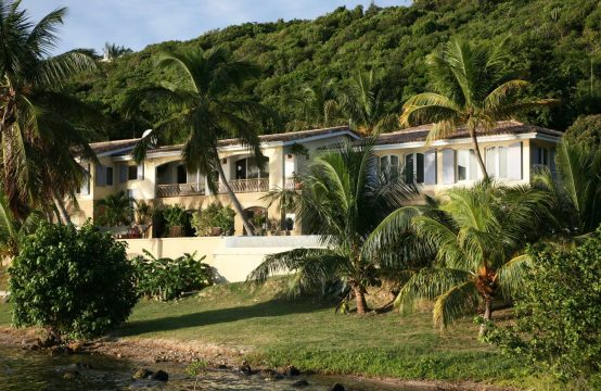 Waterfront Terres Basses St Martin Villa With Boat Dock For Sale
