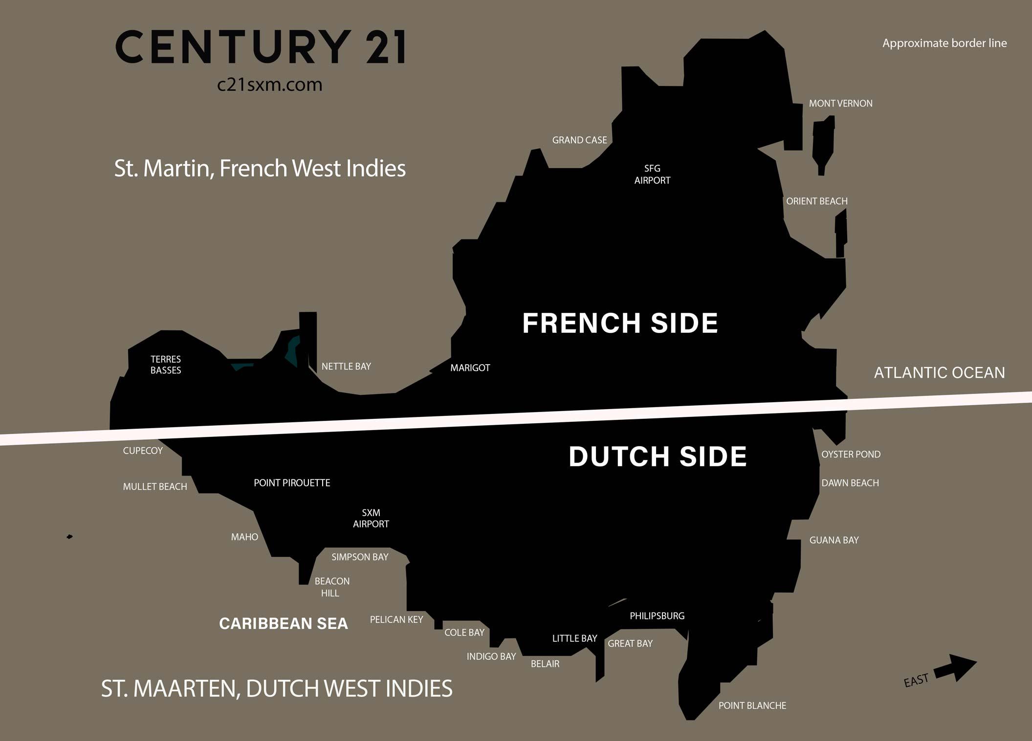 St Maarten Locations Map