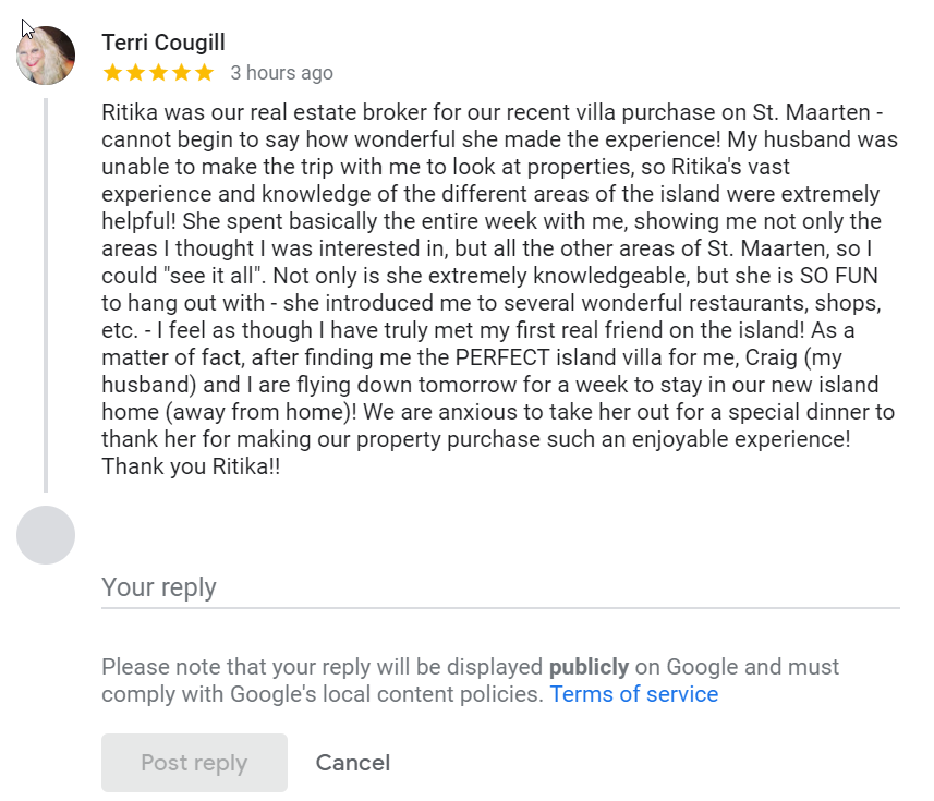 Google Review August 2021
